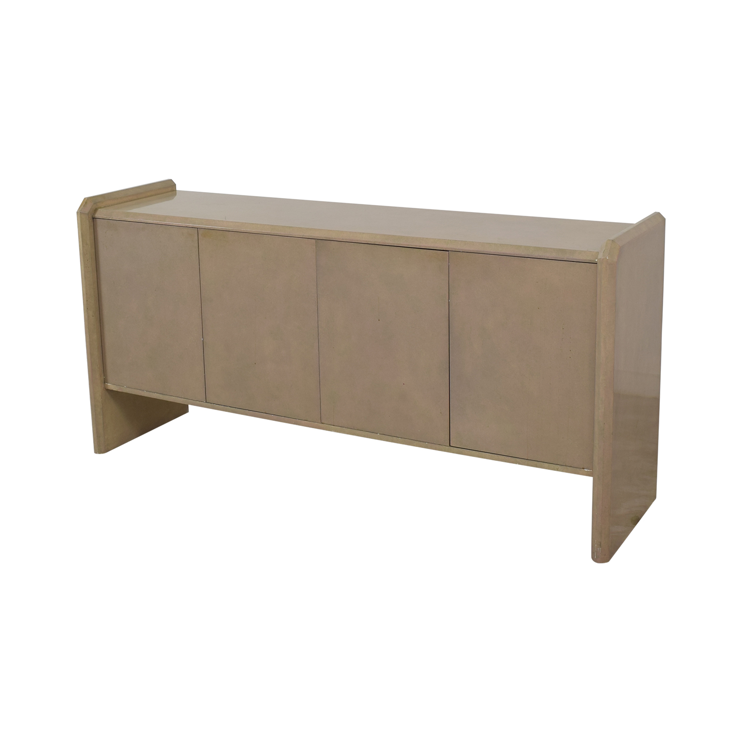 Blush Pink Lacquer Entryway Credenza nyc