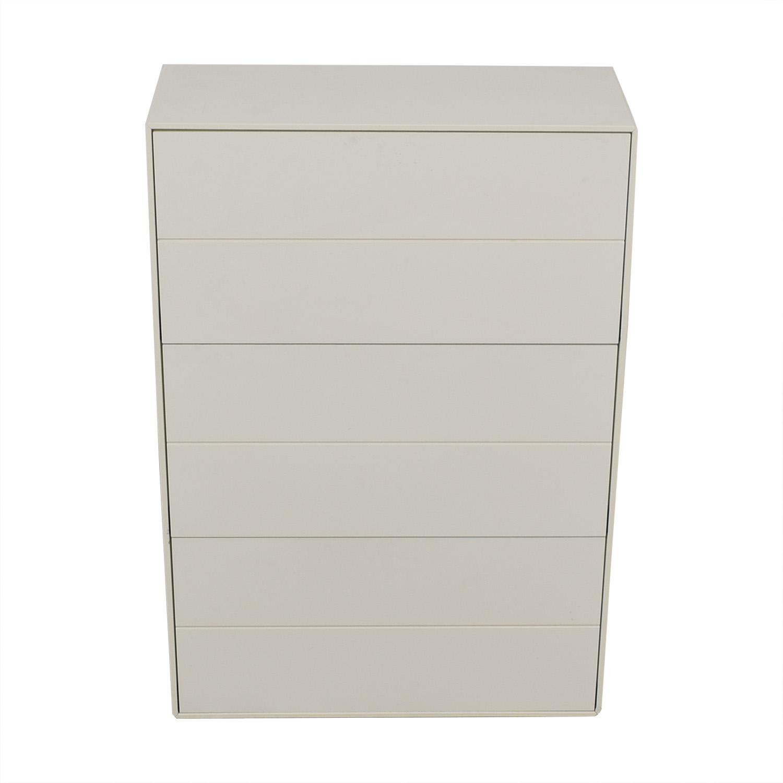 BoConcept BoConcept White Lacquer Shoe Cabinet discount