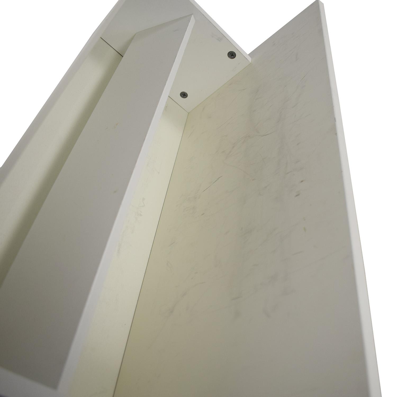 BoConcept White Lacquer Shoe Cabinet BoConcept