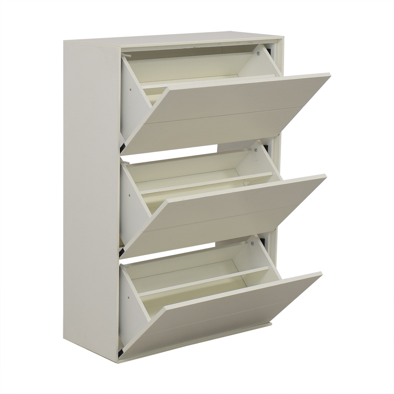 BoConcept BoConcept White Lacquer Shoe Cabinet coupon