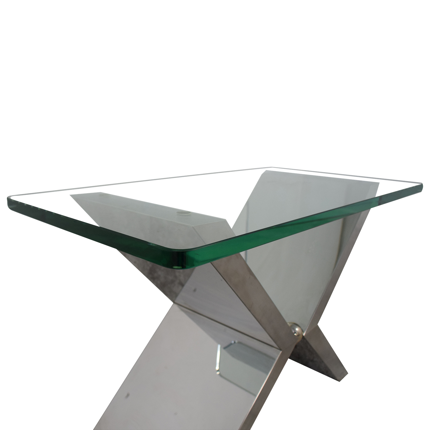 J Robert Scott J Robert Scott Modern Glass and Steel Side Table discount