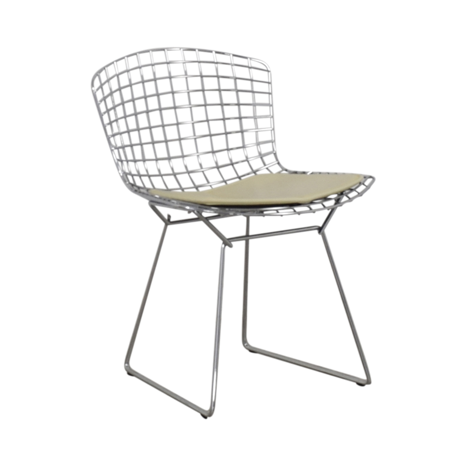 Knoll Knoll Bertoia Side Chair silver & beige