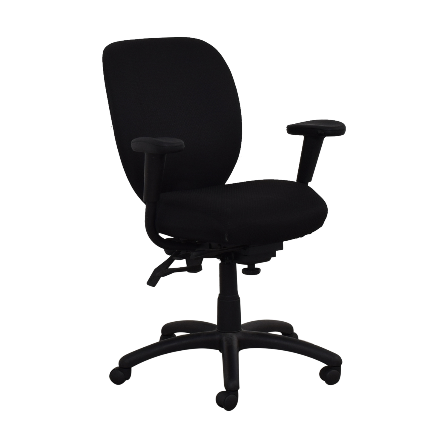 Offices to Go Black Quilt Office Chair / Home Office Chairs