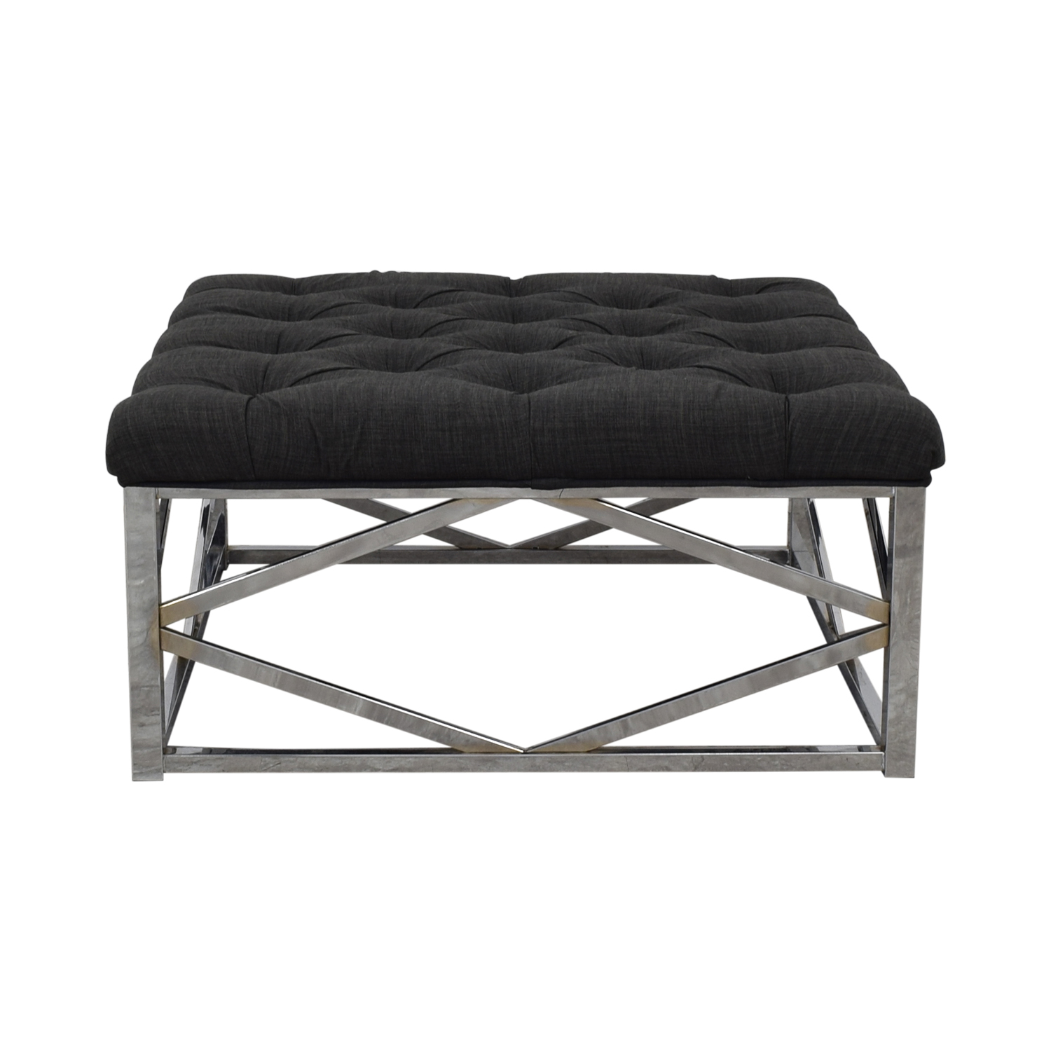 shop Inspire Q Inspire Q Bold Solene Grey Tufted Square Ottoman Coffee Table online