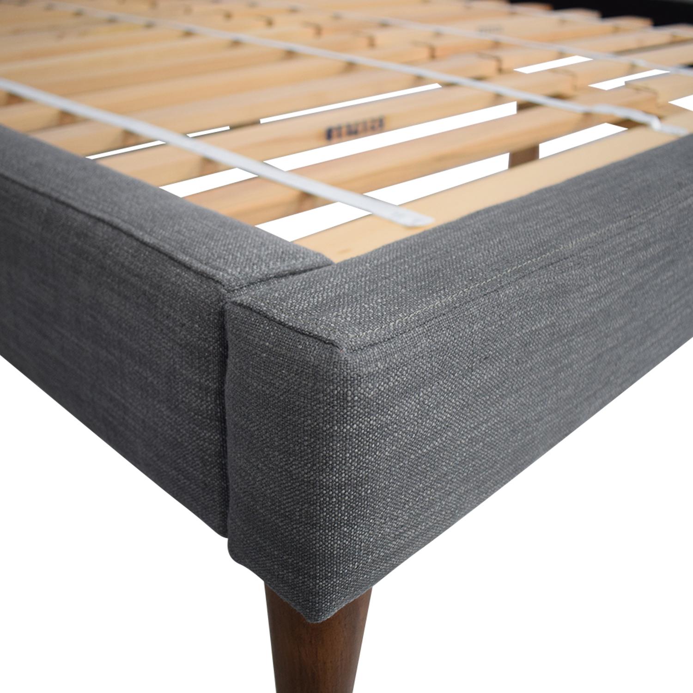shop West Elm West Elm Queen Grid-Tufted Upholstered Tapered Leg Bed online