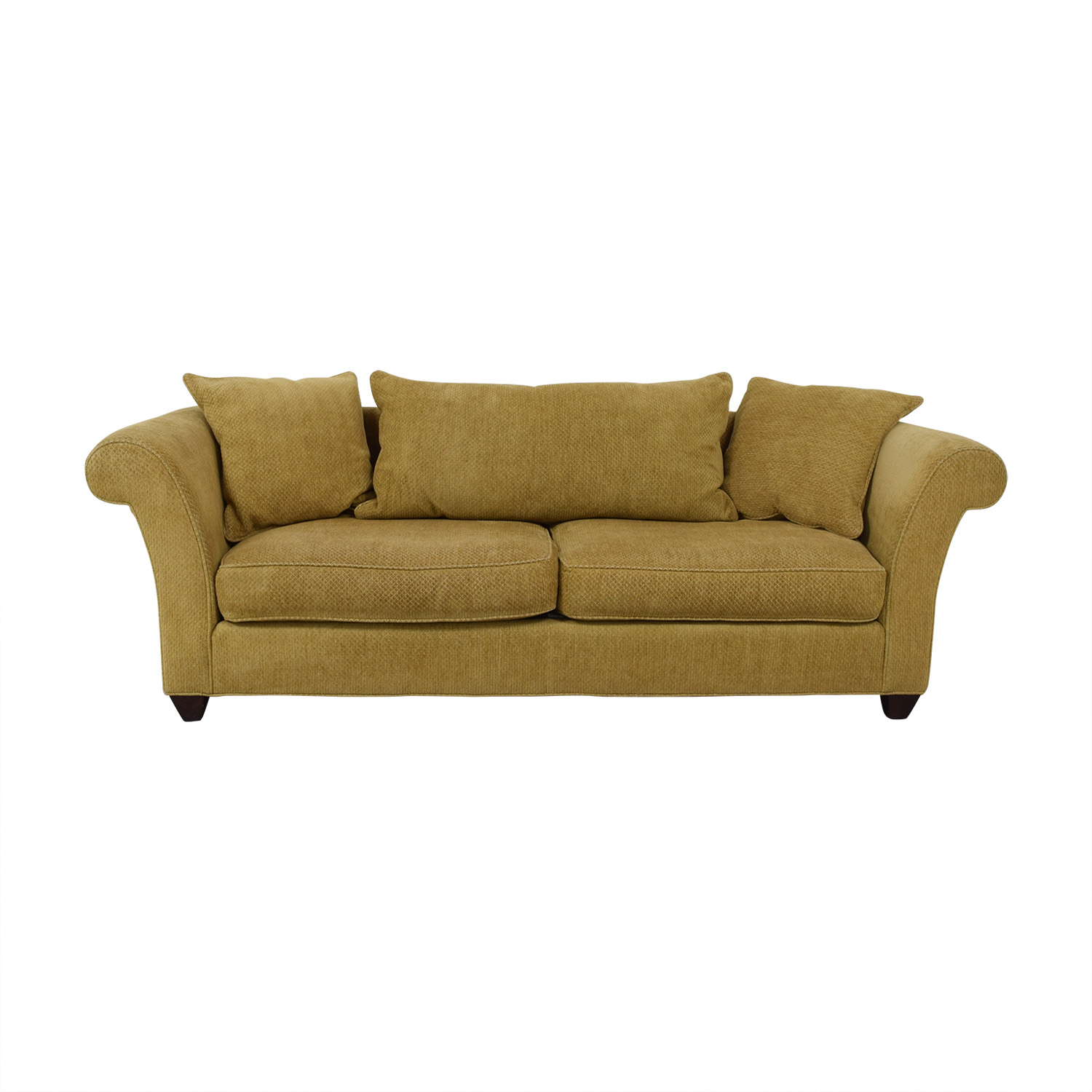Two Cushion Roll Arm Sofa on sale