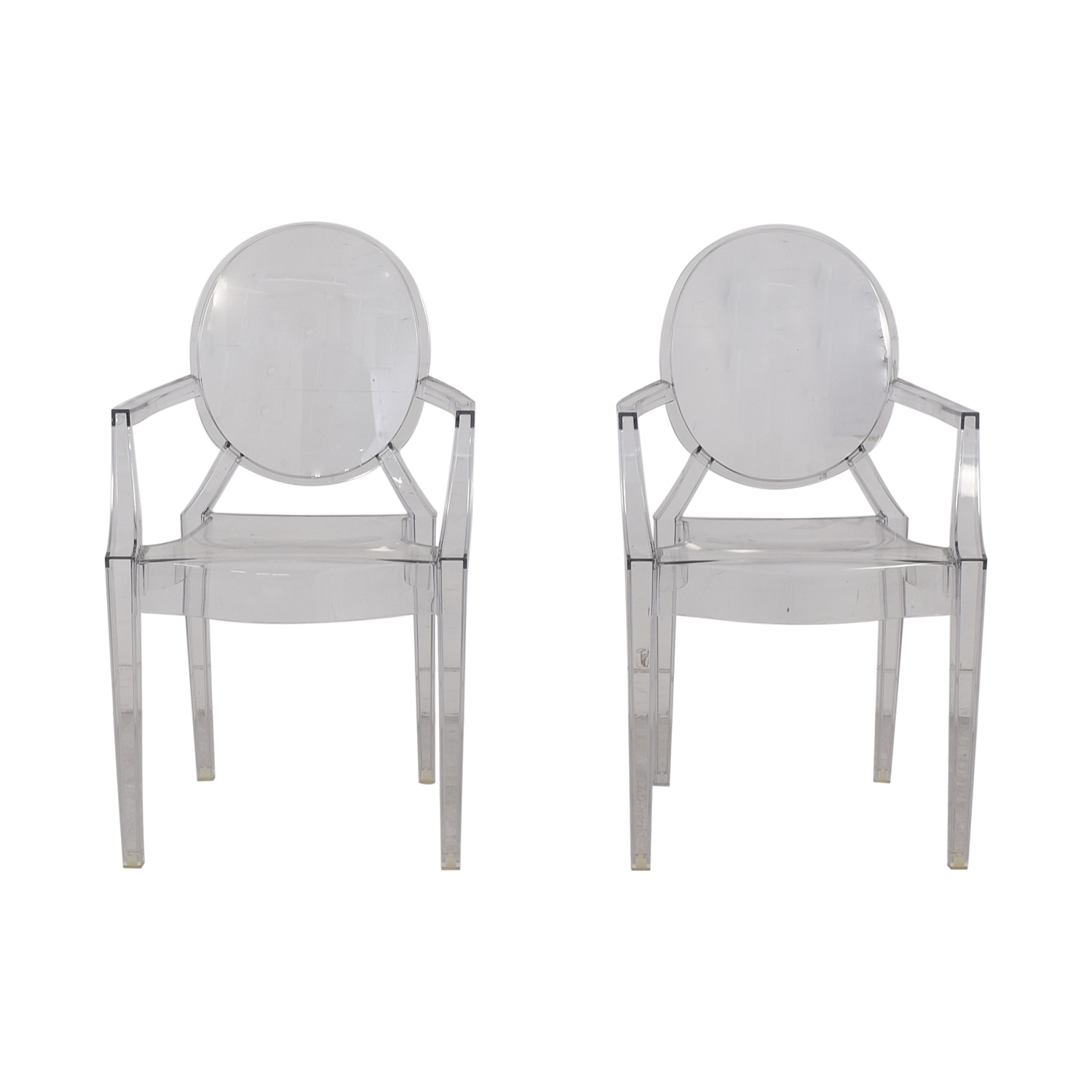 Kartell Kartell Philippe Starck Louis Ghost Chairs Clear Plastic