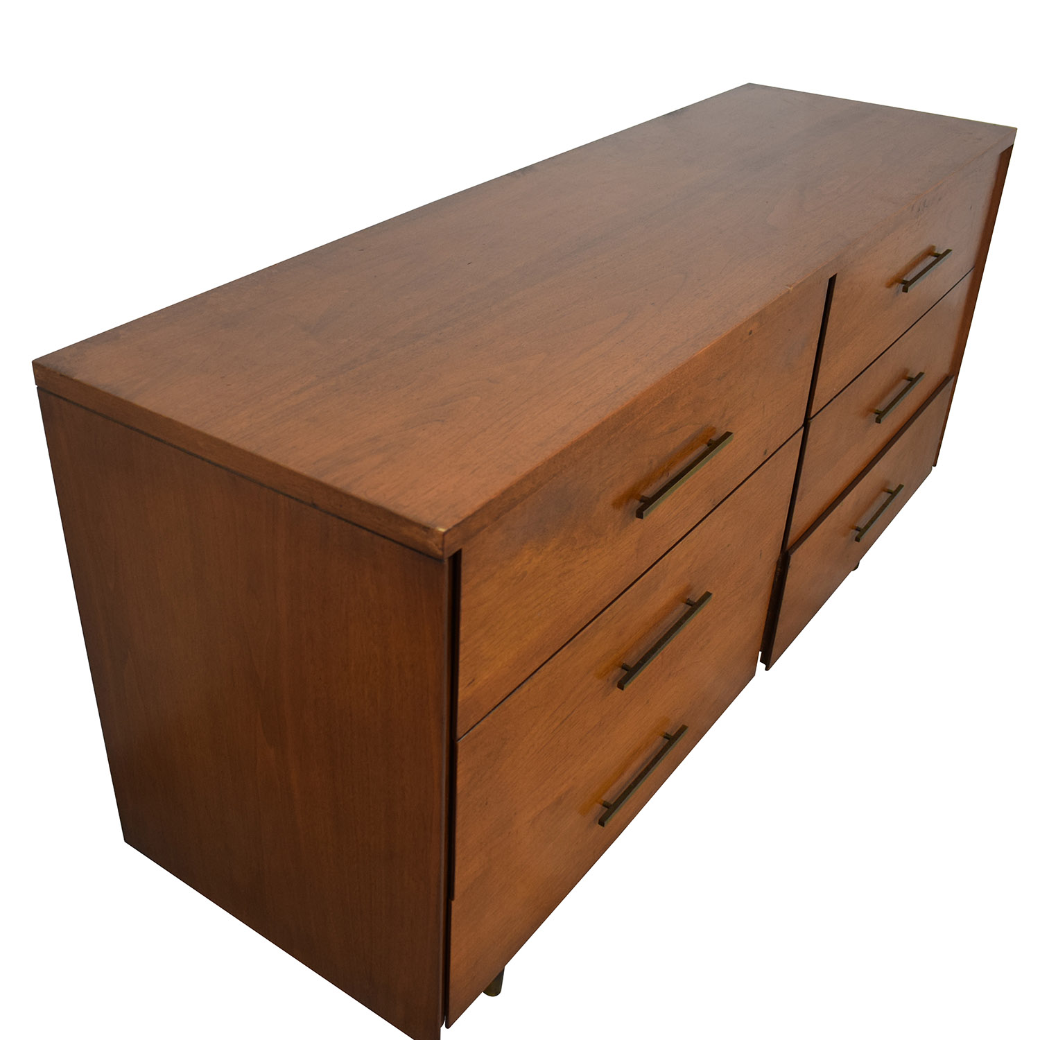 Mid Century Six Drawer Dresser second hand