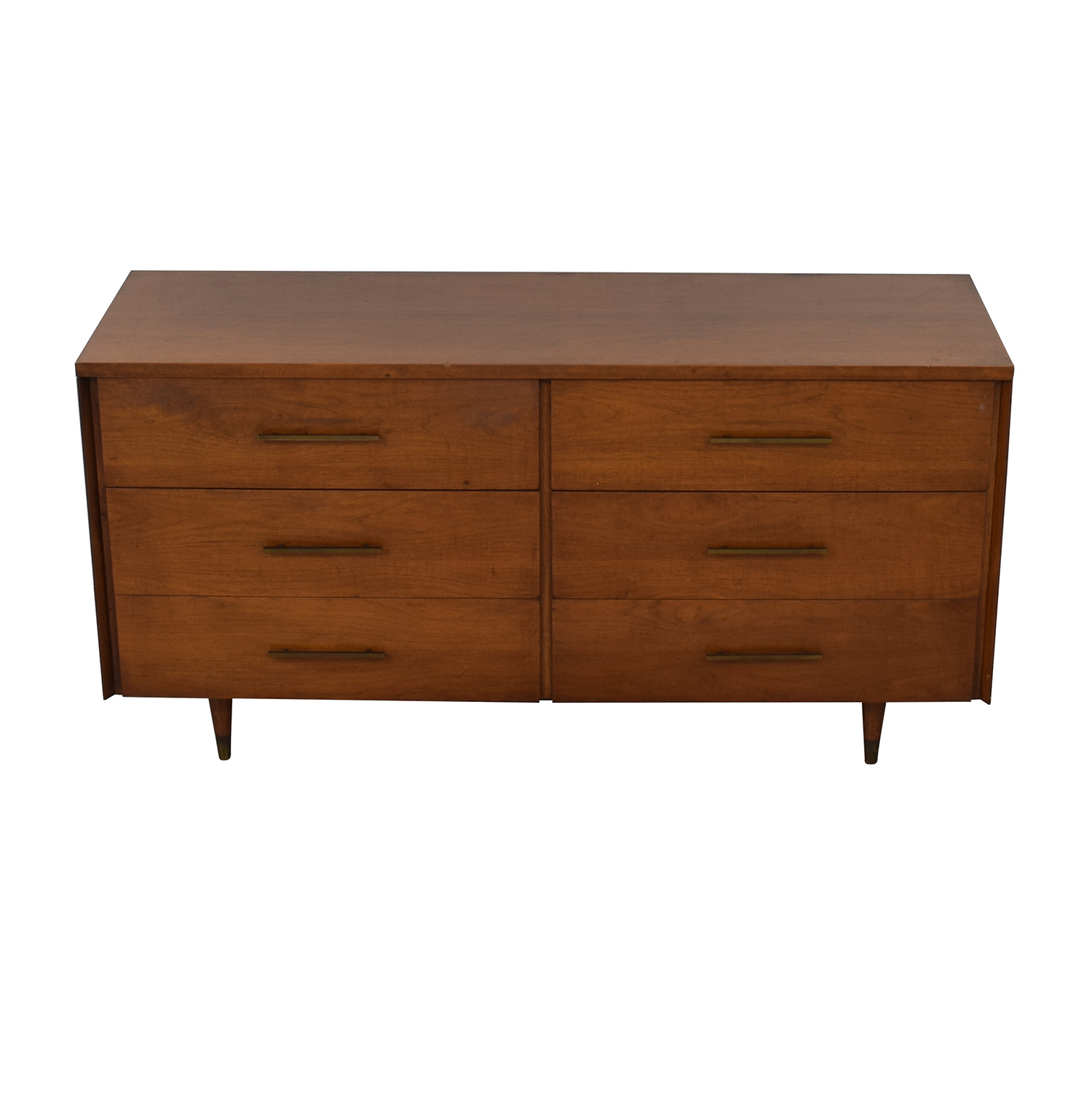 Mid Century Six Drawer Dresser on sale