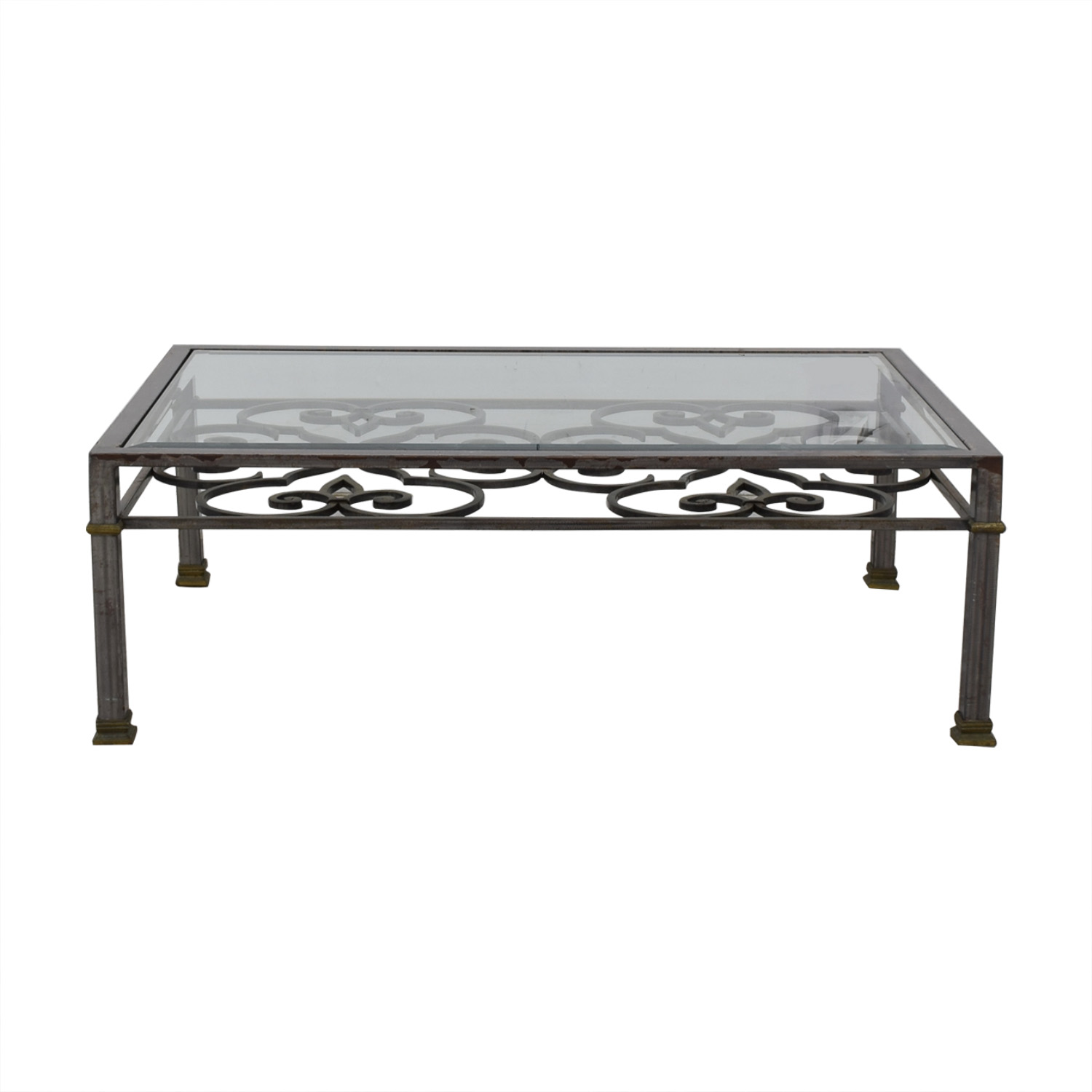 buy Ethan Allen Glass Top Coffee Table Ethan Allen