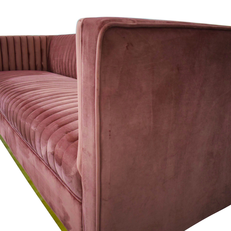shop Allmodern Mercer41 Dusty Rose Glam Sofa AllModern Classic Sofas