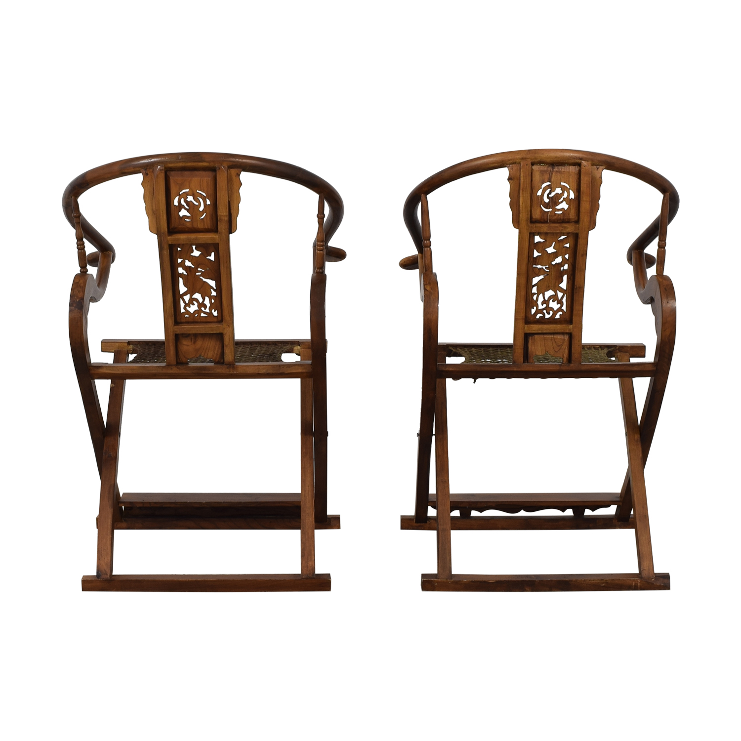 shop Antique Chinese Emperor Horseshoe Folding Chairs  Chairs