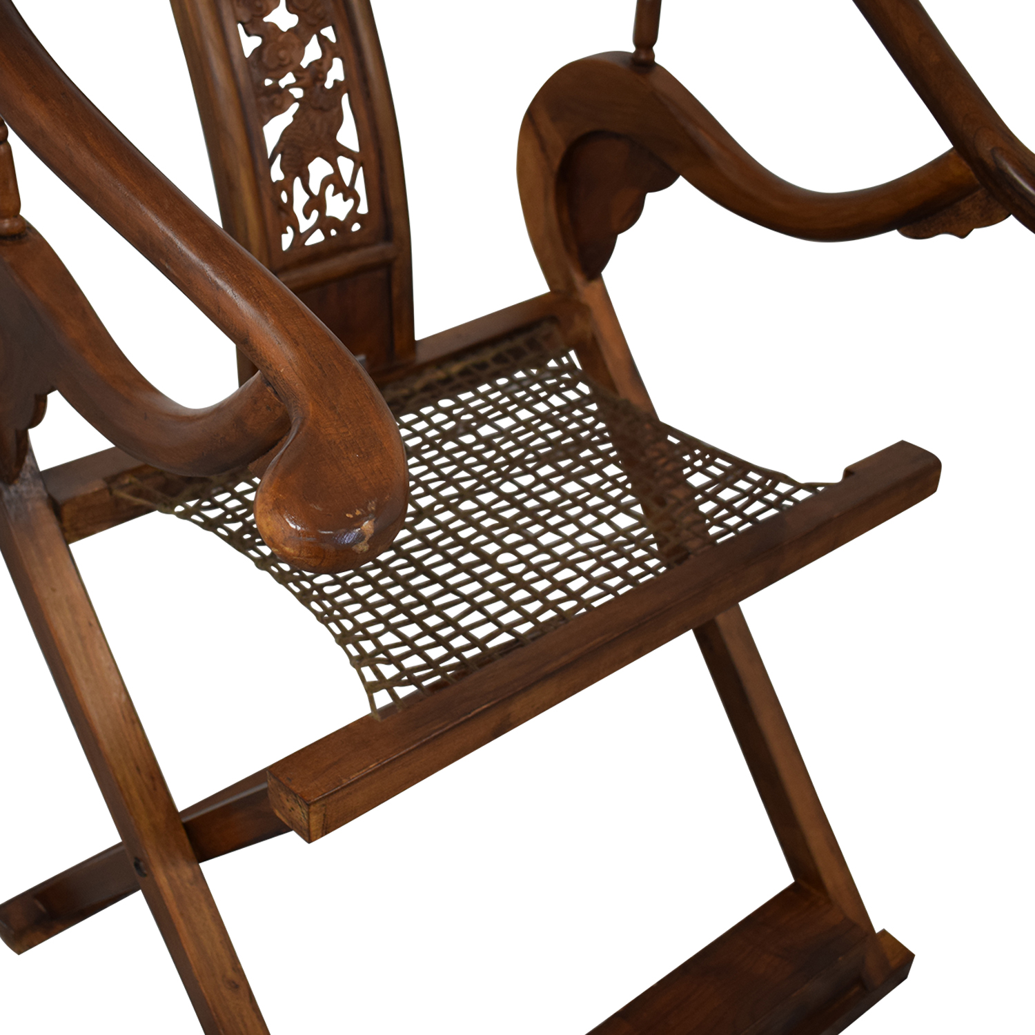 Antique Chinese Emperor Horseshoe Folding Chairs / Chairs