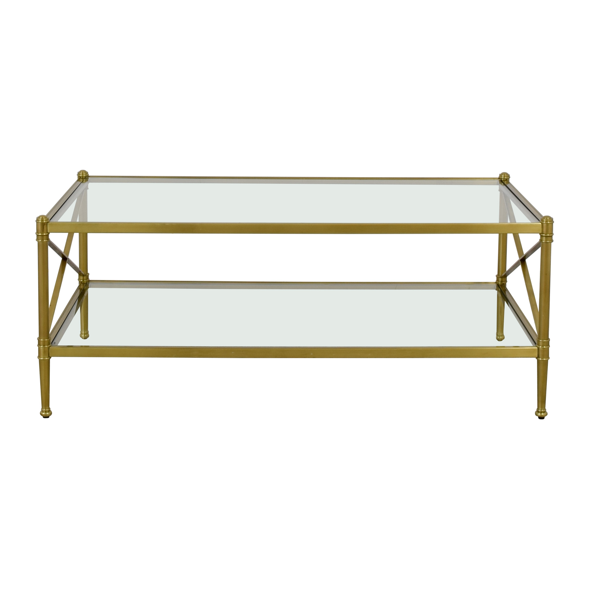 Restoration Hardware Restoration Hardware Coffee Table gold