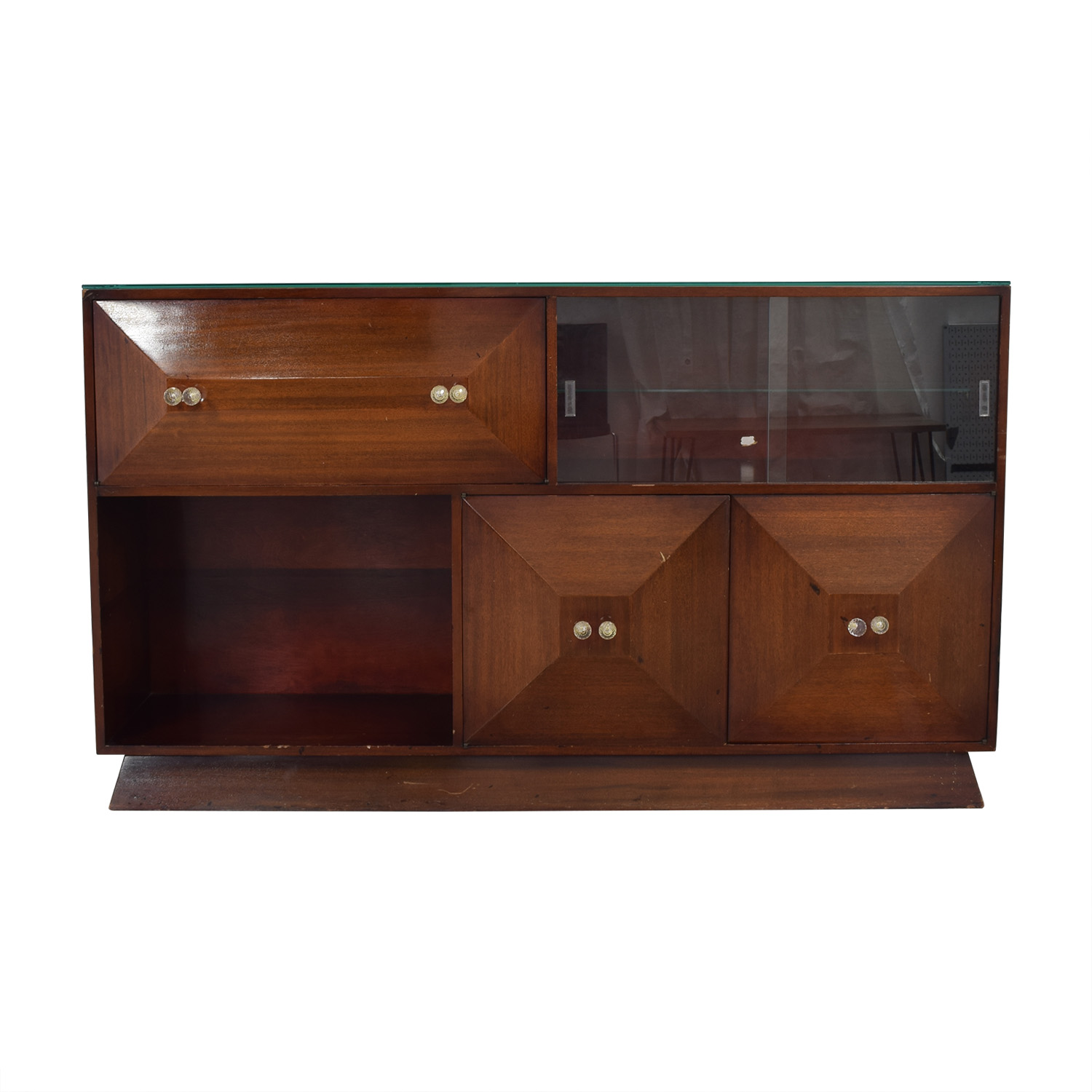 Mid Century Bar Sideboard with Bar Storage