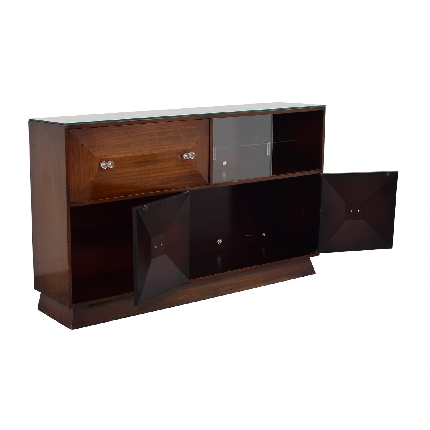 Mid Century Bar Sideboard with Bar brown