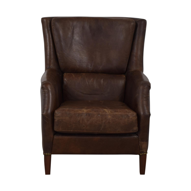 shop ABC Carpet & Home Leather Arm Chair ABC Carpet & Home