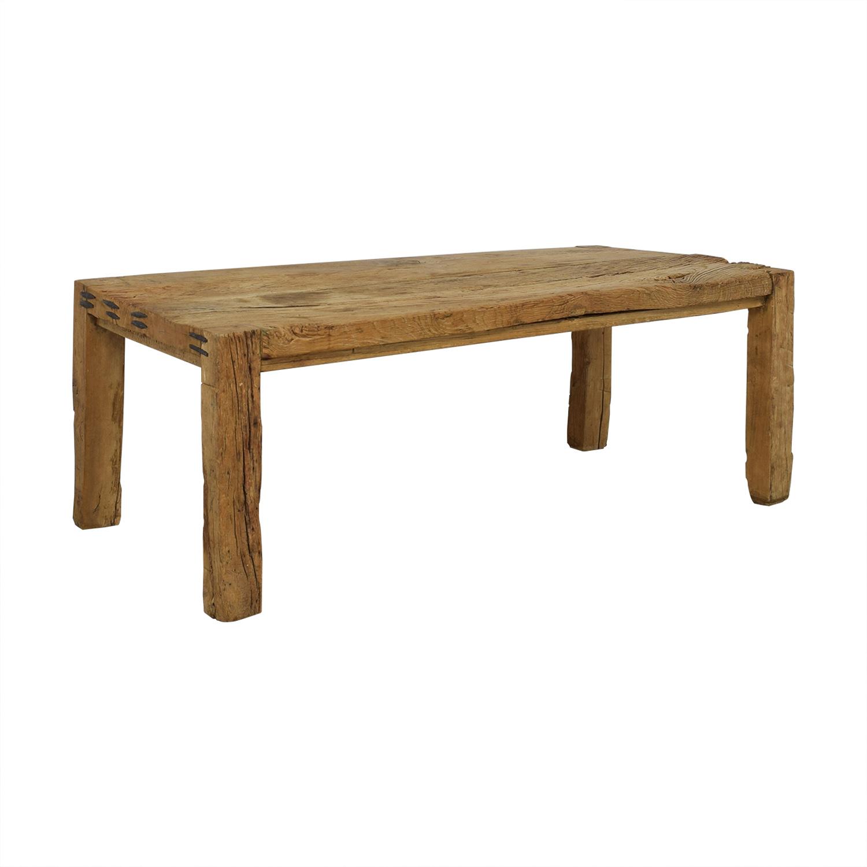 ABC Carpet & Home ABC Carpet & Home Reclaimed Wood Farm Table dimensions