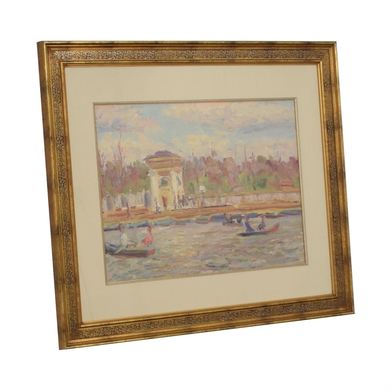 shop Soicher Marin Impressionist Lake Scene Wall Art  Decor