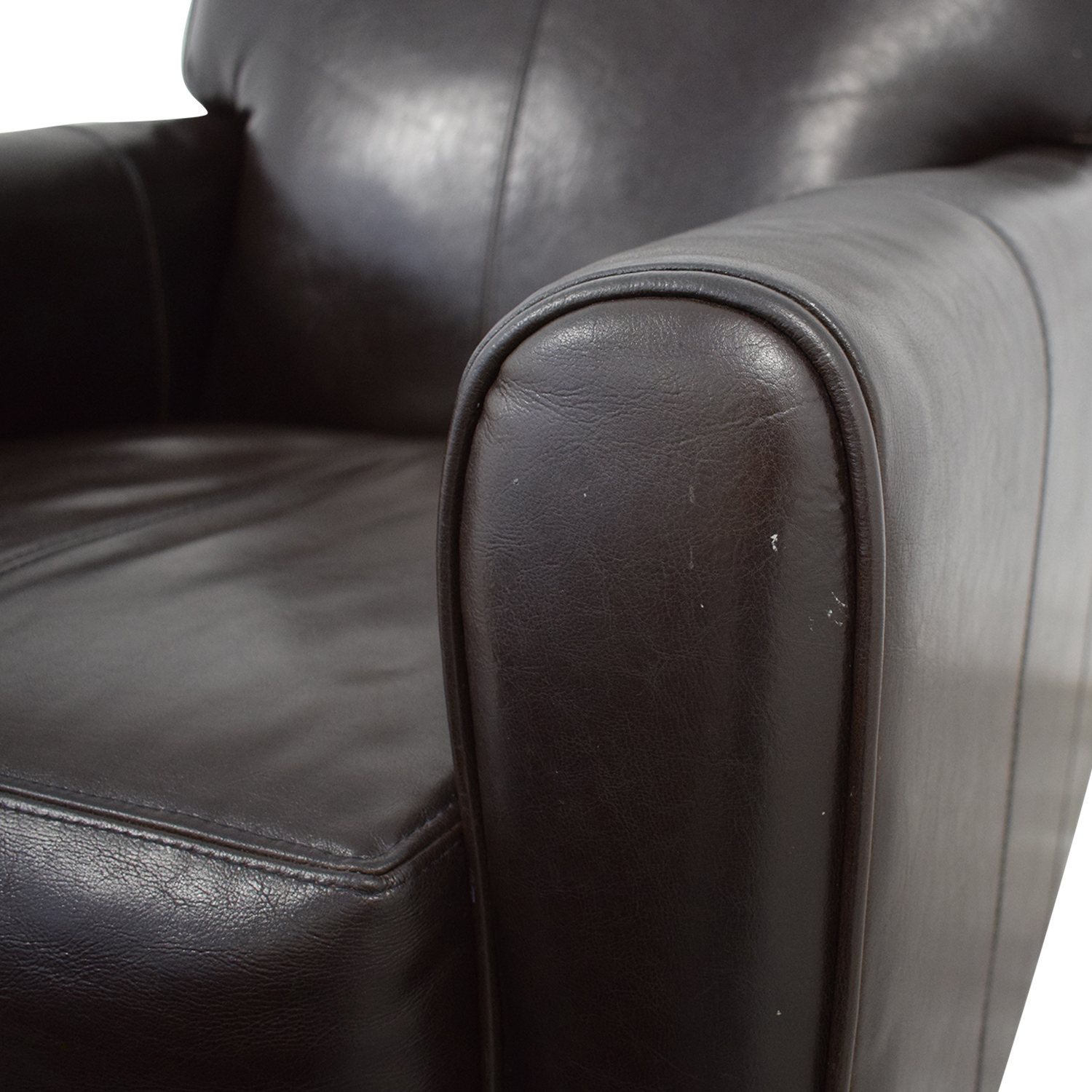 Jennifer Furniture Jennifer Leather Chair with Ottoman