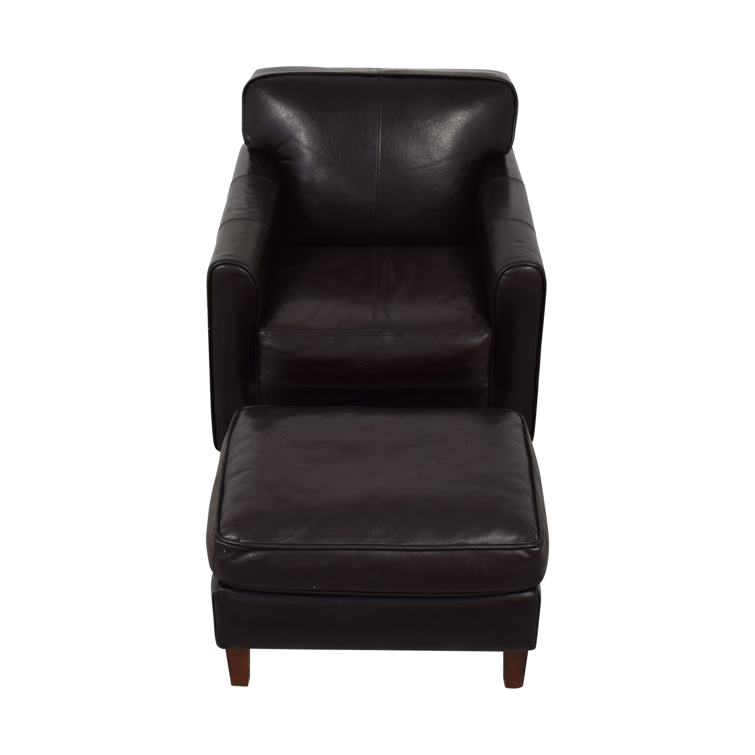 Jennifer Furniture Jennifer Leather Chair with Ottoman second hand