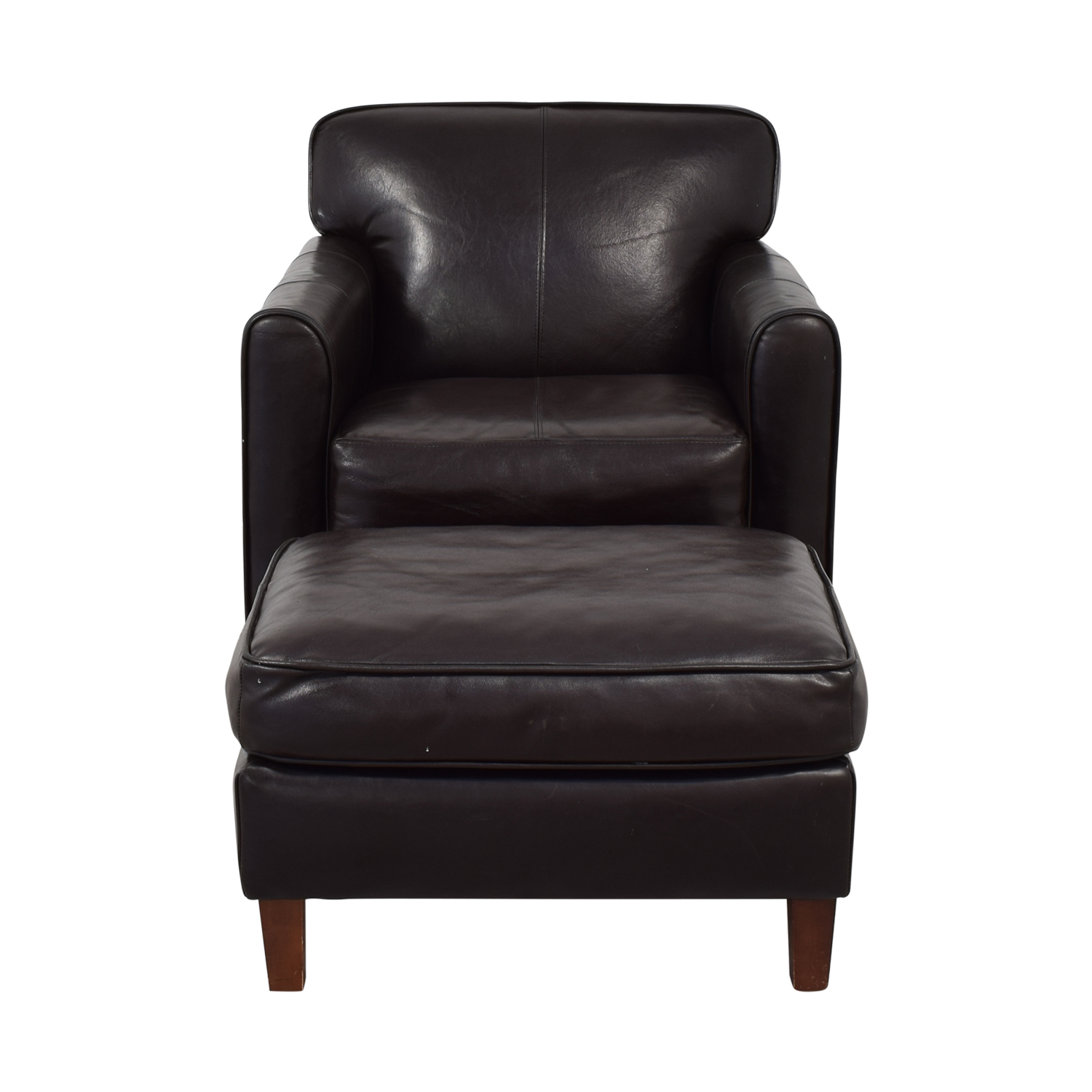 Jennifer Furniture Jennifer Leather Chair with Ottoman coupon
