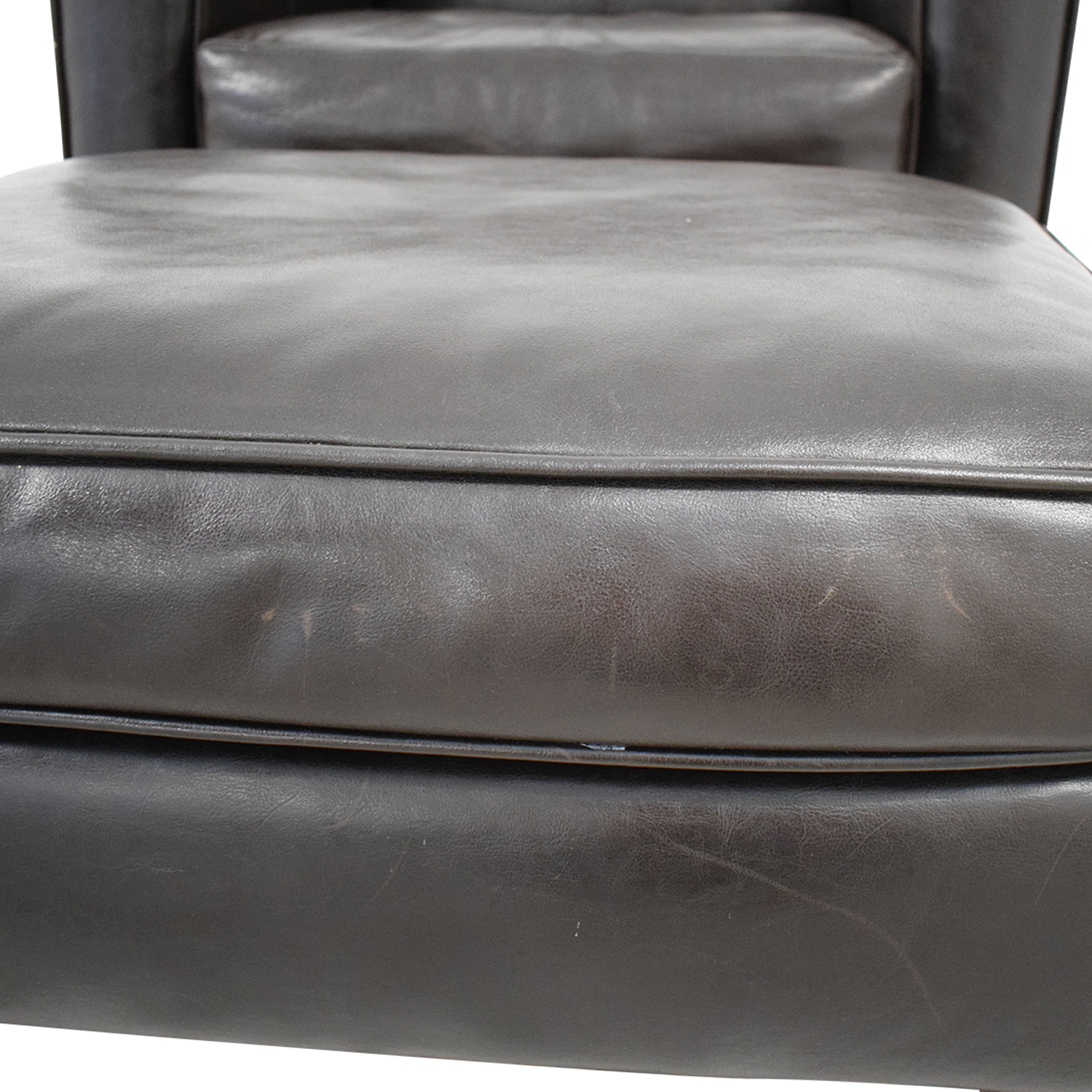 buy Jennifer Furniture Jennifer Leather Chair with Ottoman online