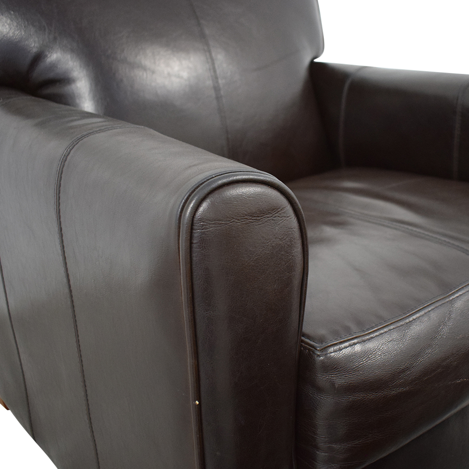 Jennifer Furniture Jennifer Leather Chair with Ottoman nj