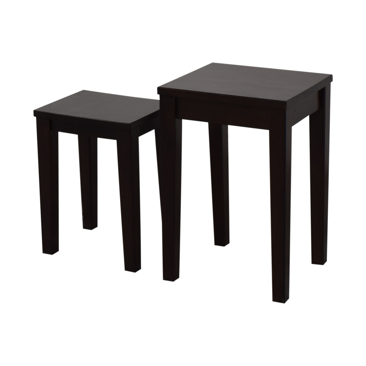buy Pottery Barn Wood Accent Nesting Tables Pottery Barn End Tables