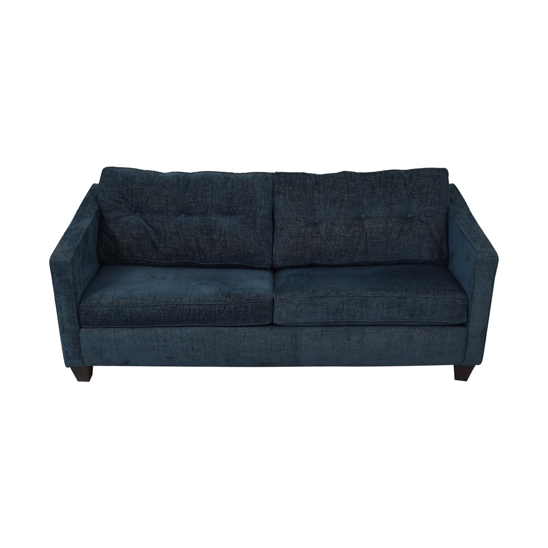 Jennifer Furniture Jennifer Furniture Blue Sleeper Sofa nyc