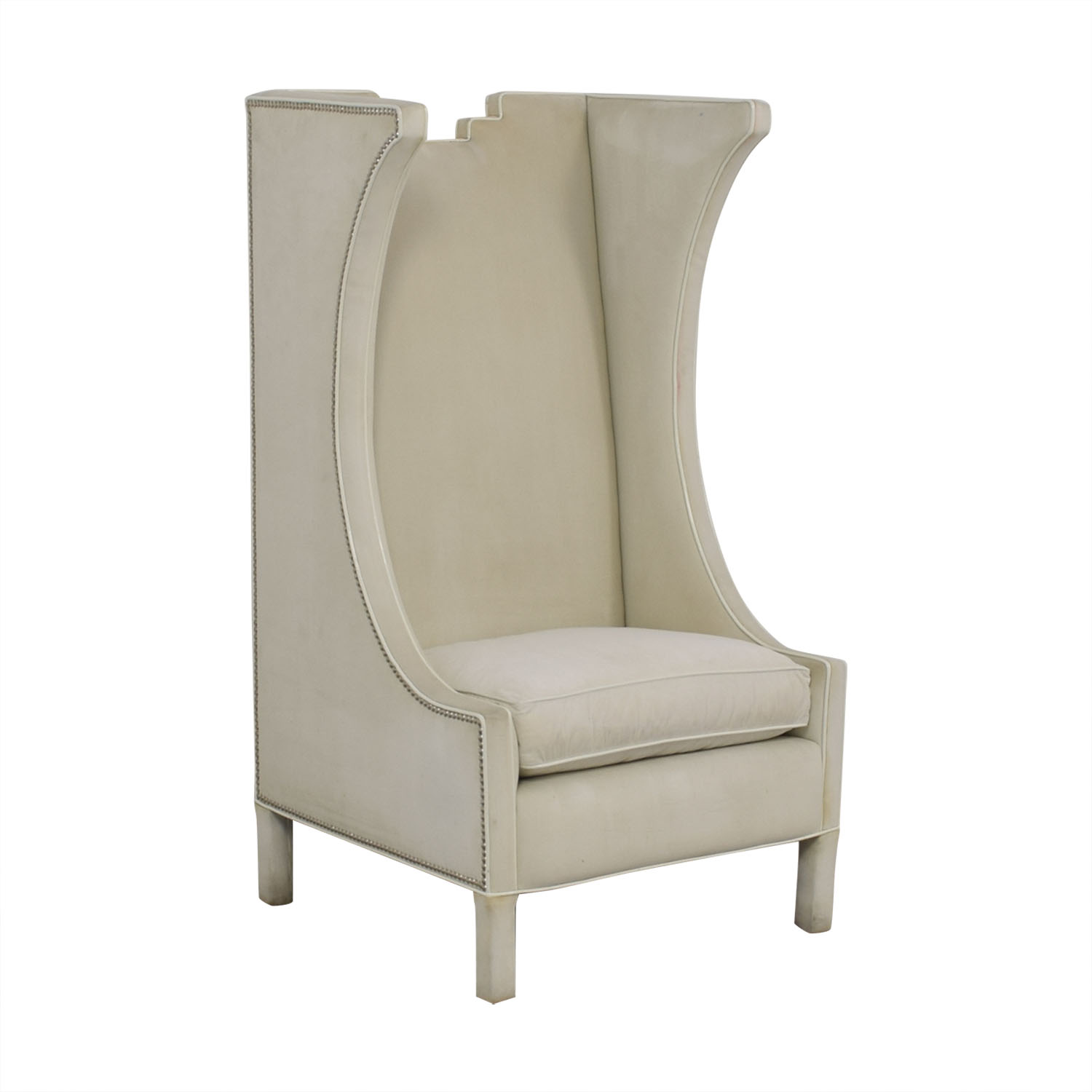 Sensational 85 Off Shine By S H O Shine By S H O Lolita High Chair Cotton Velvet And Leather Piping Chairs Dailytribune Chair Design For Home Dailytribuneorg