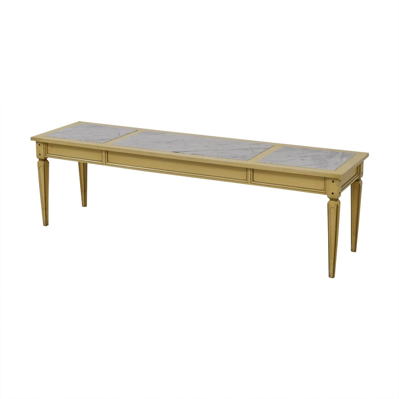 Long Coffee Table White, tan