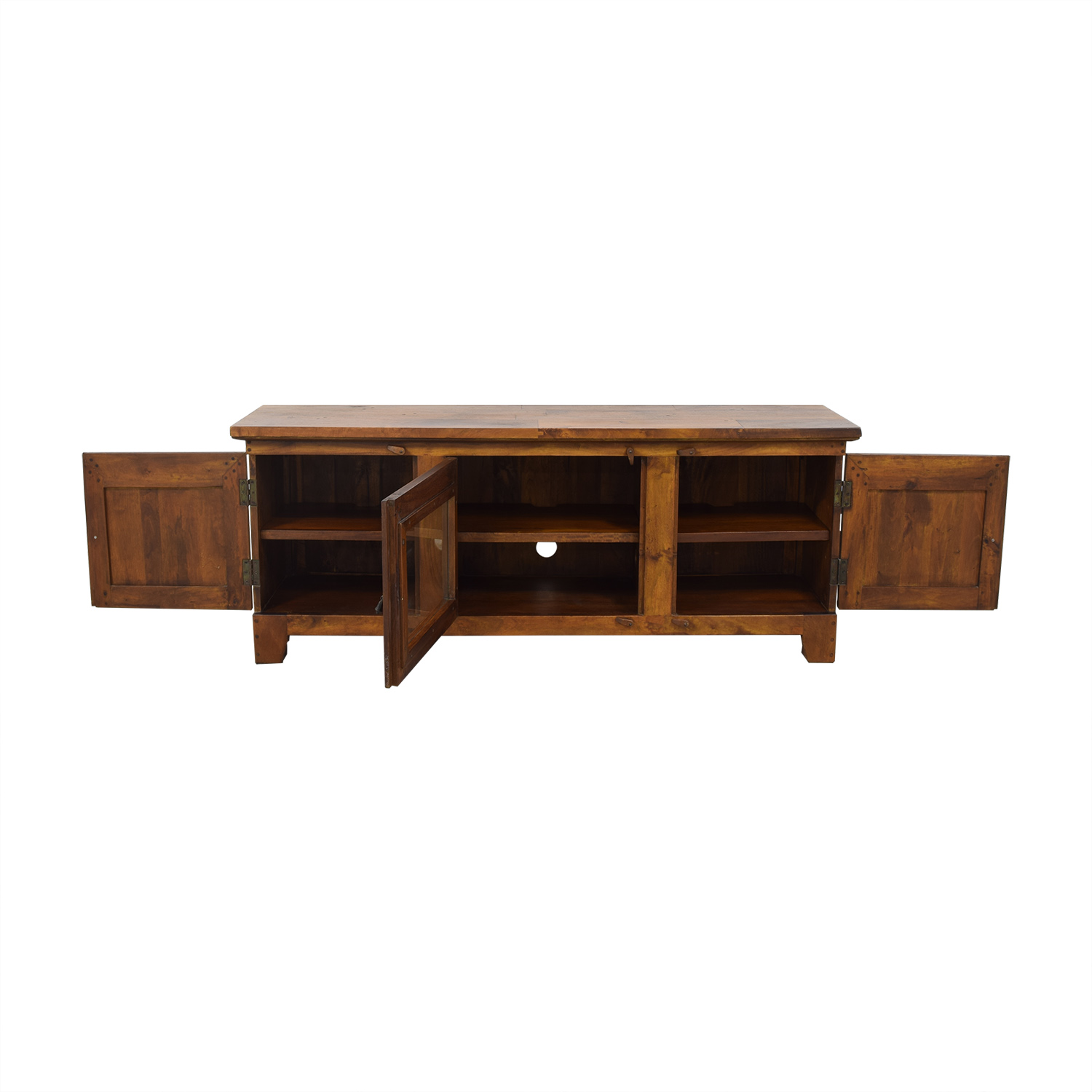 Crate & Barrel Crate & Barrel Basque Honey Media Console nj