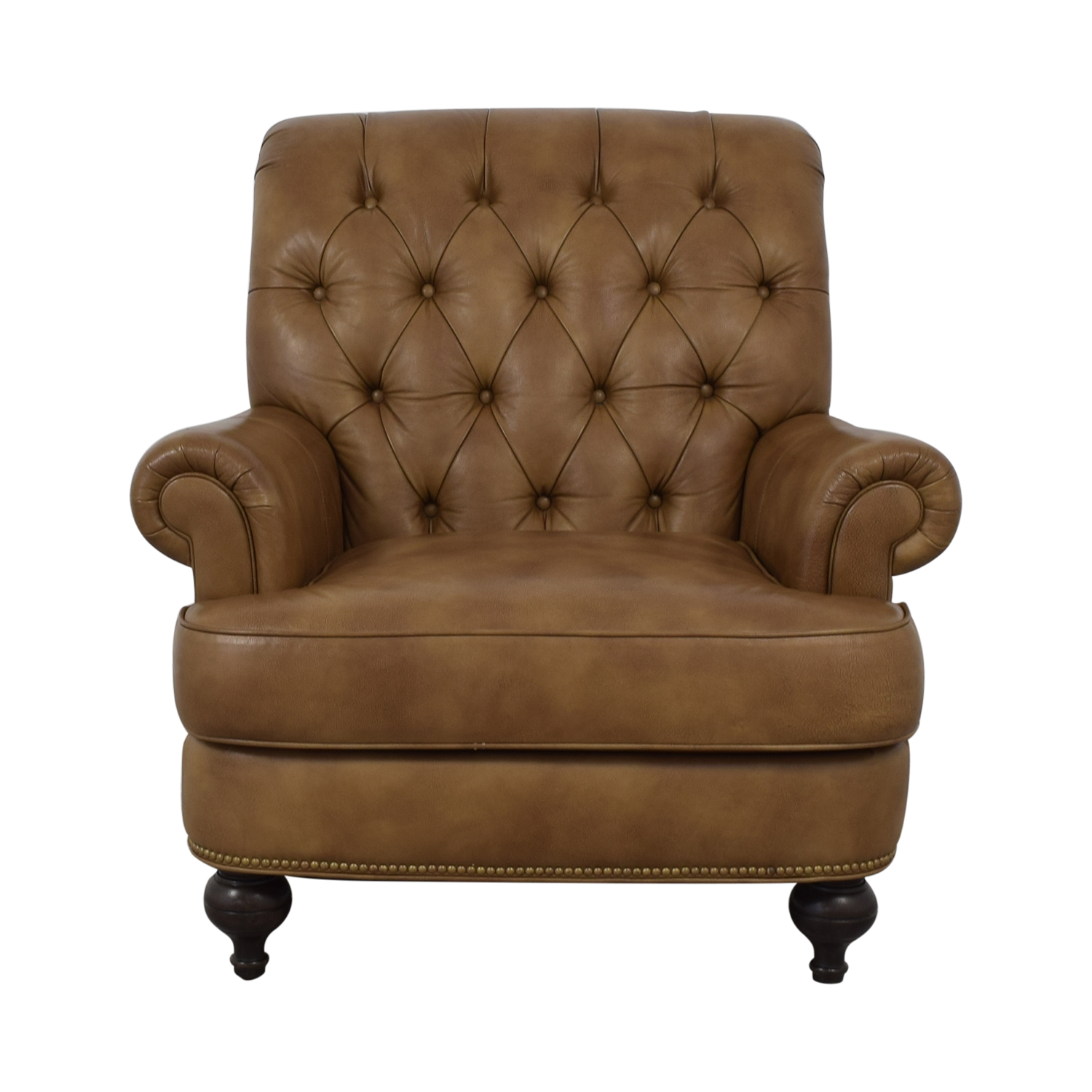 Ethan Allen Shawe Leather Chair sale