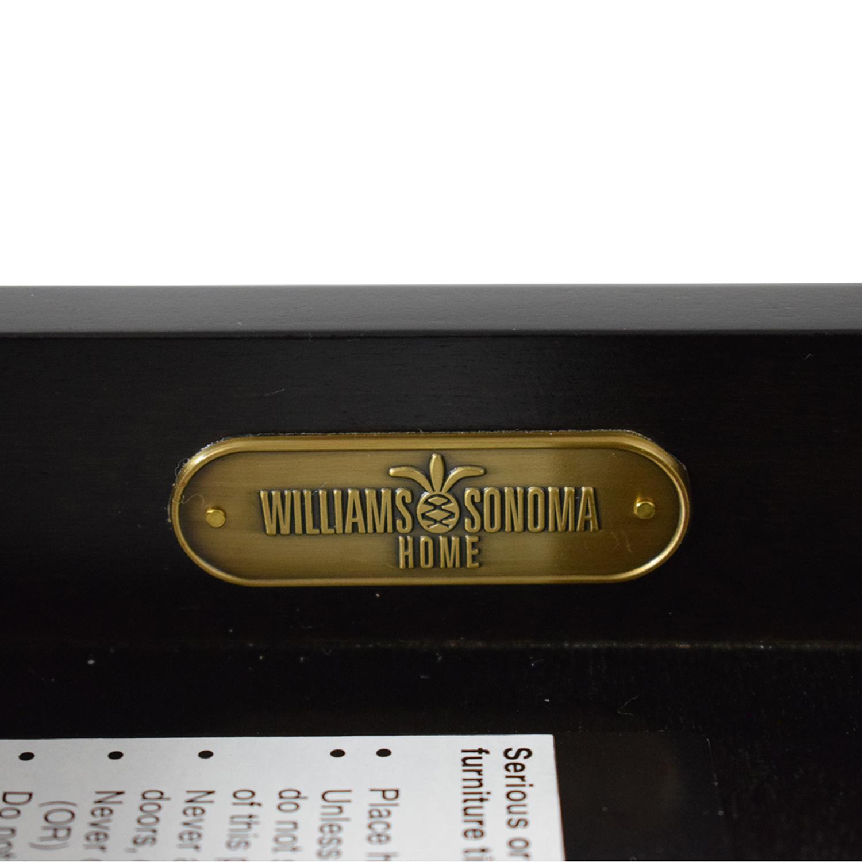 Williams Sonoma Williams Sonoma Mason Ebony Wood Desk with Chrome Sawhorse Legs