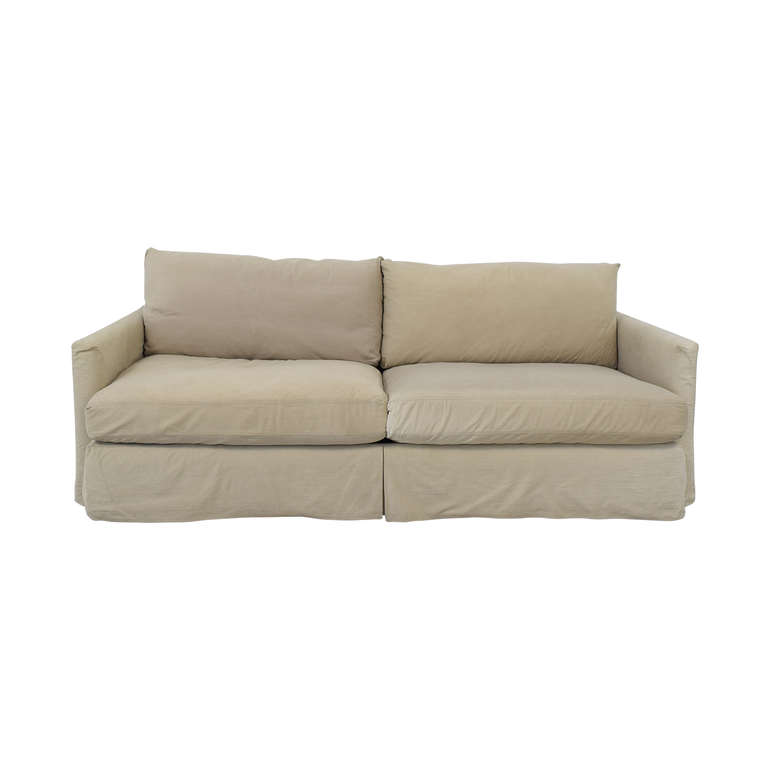 Crate & Barrel Crate & Barrel Lounge Slipcovered Sofa second hand