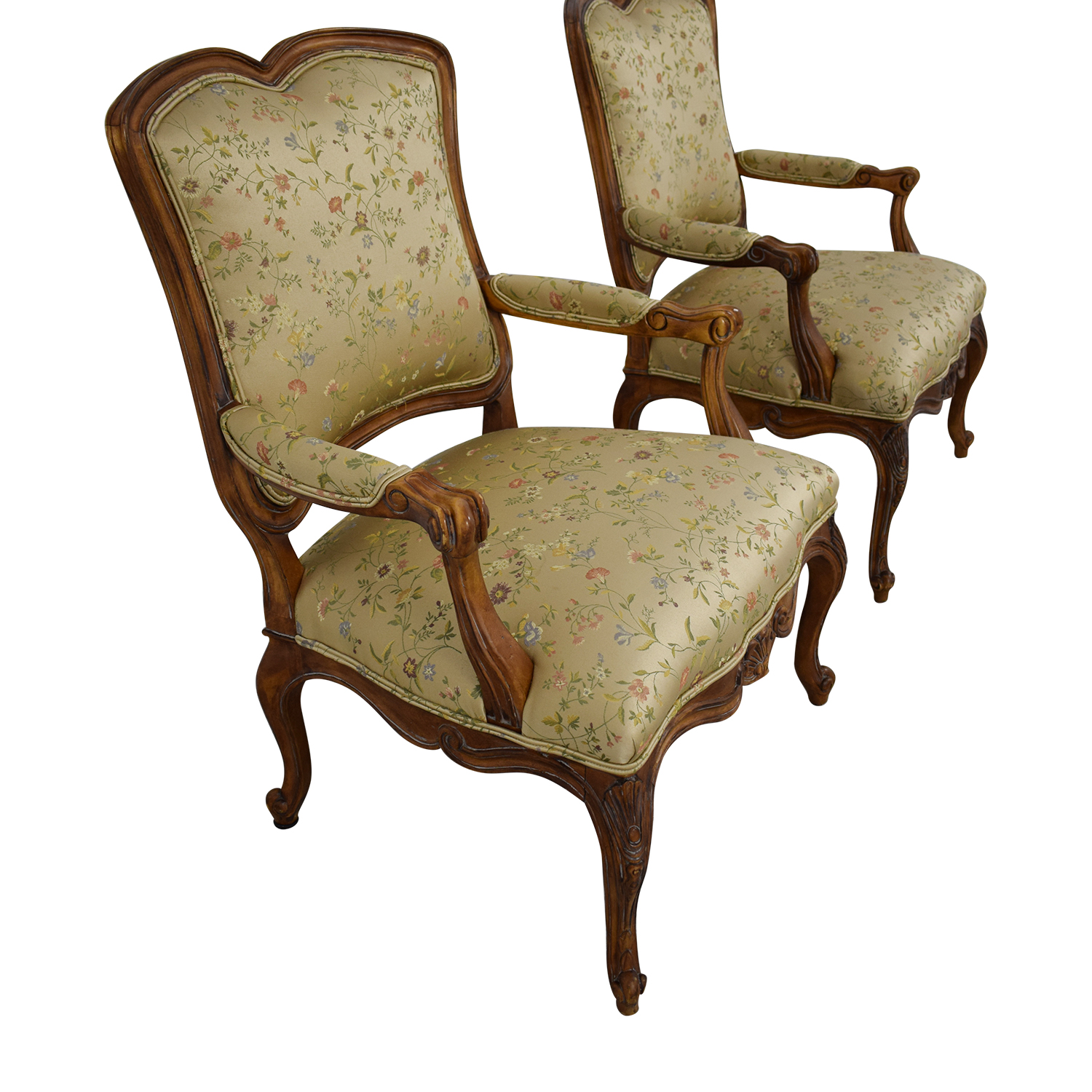 Century Furniture French Style Armchairs / Chairs