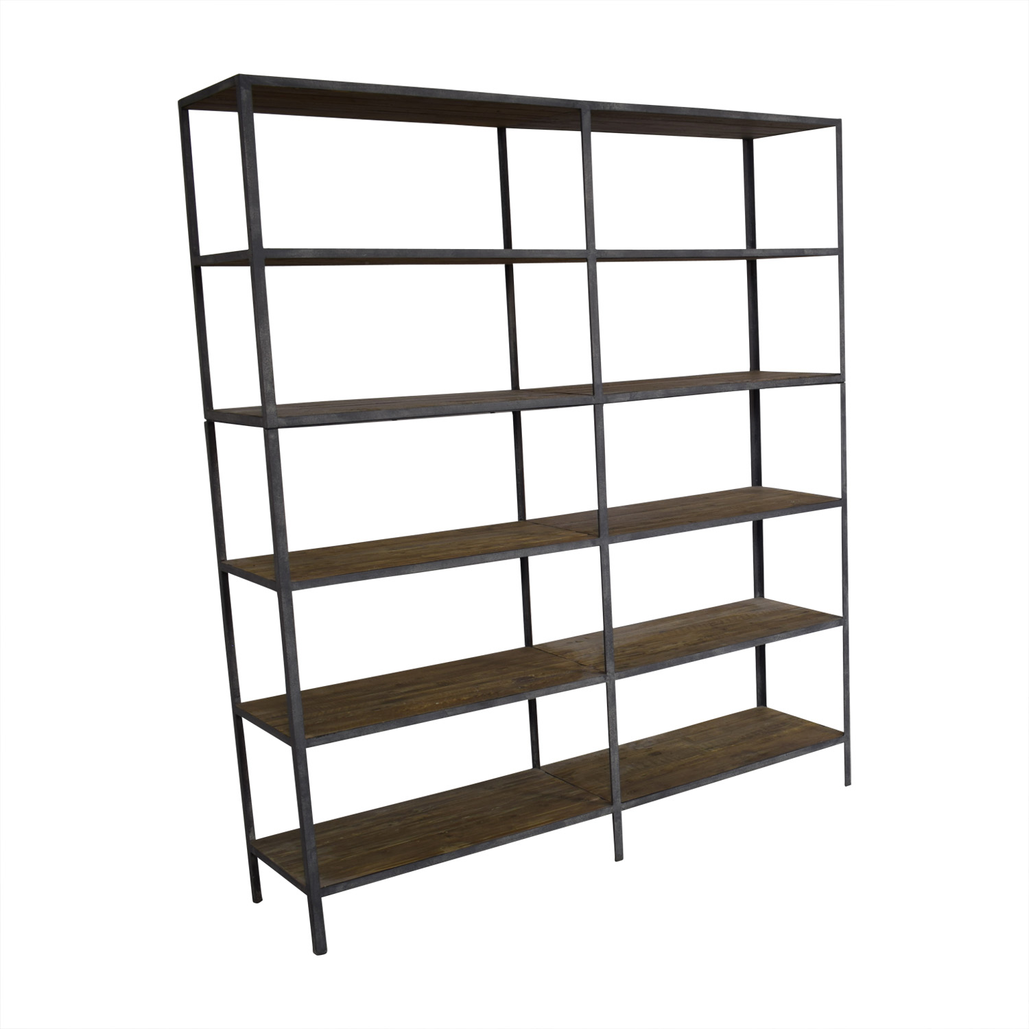 Restoration Hardware Restoration Hardware Vintage Industrial Double Shelving for sale