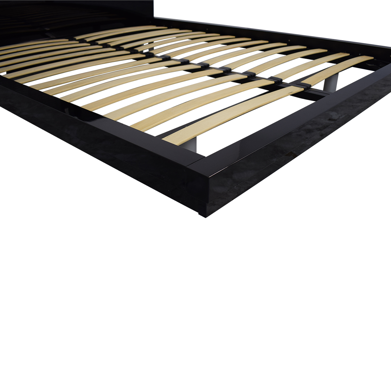 Black Italian Lacquer Queen Bed Frame coupon