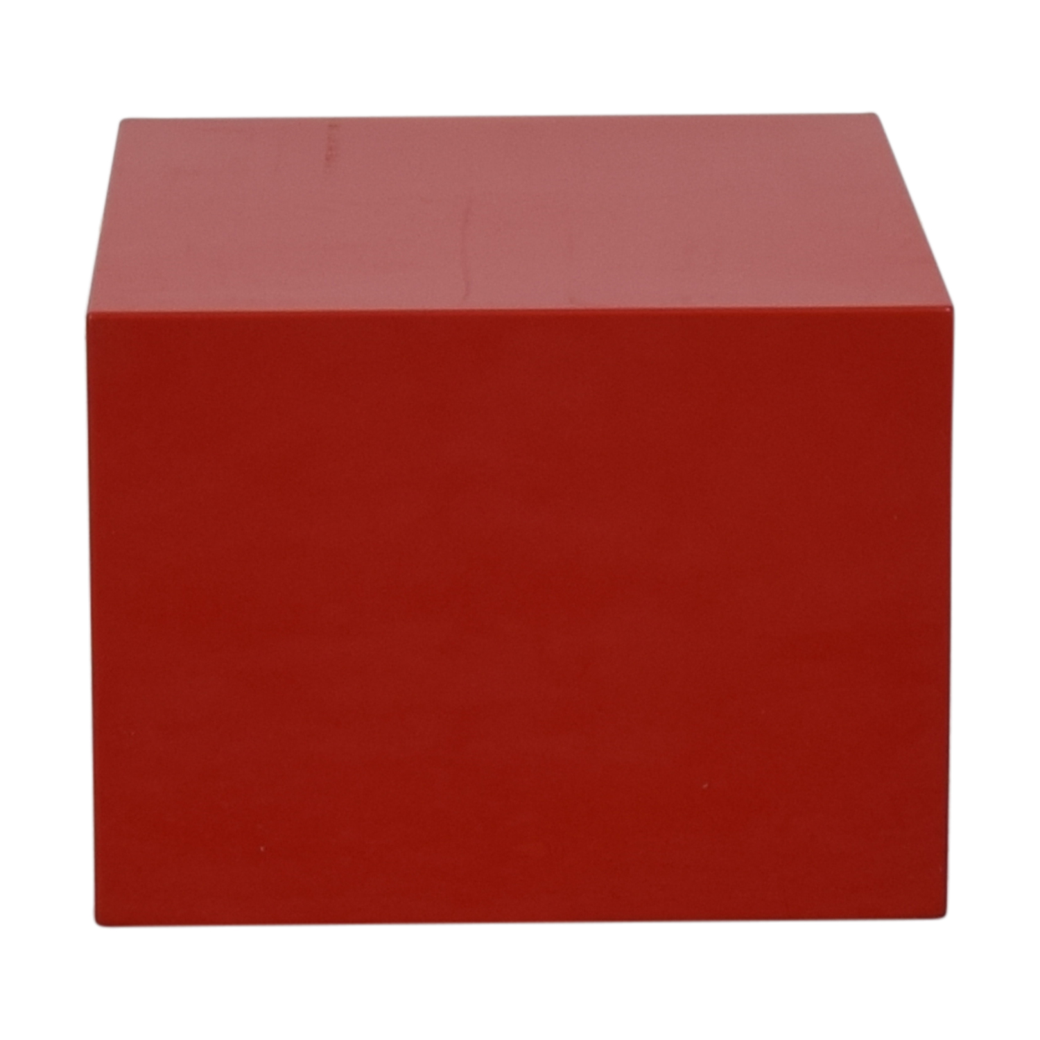 CB2 Cb2 City Slicker Red Side Table nyc