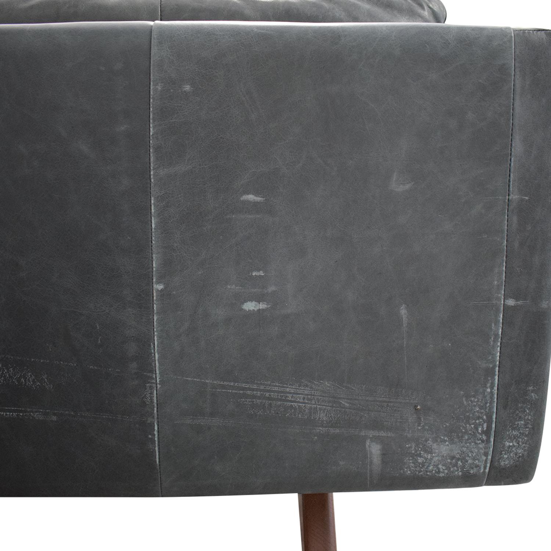 buy West Elm Brooklyn Leather Sofa West Elm Classic Sofas