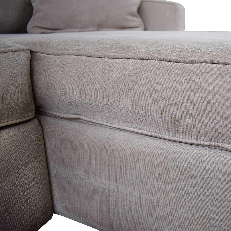 Remarkable 75 Off Macys Macys Radley Fabric Chaise Sectional Sofas Theyellowbook Wood Chair Design Ideas Theyellowbookinfo
