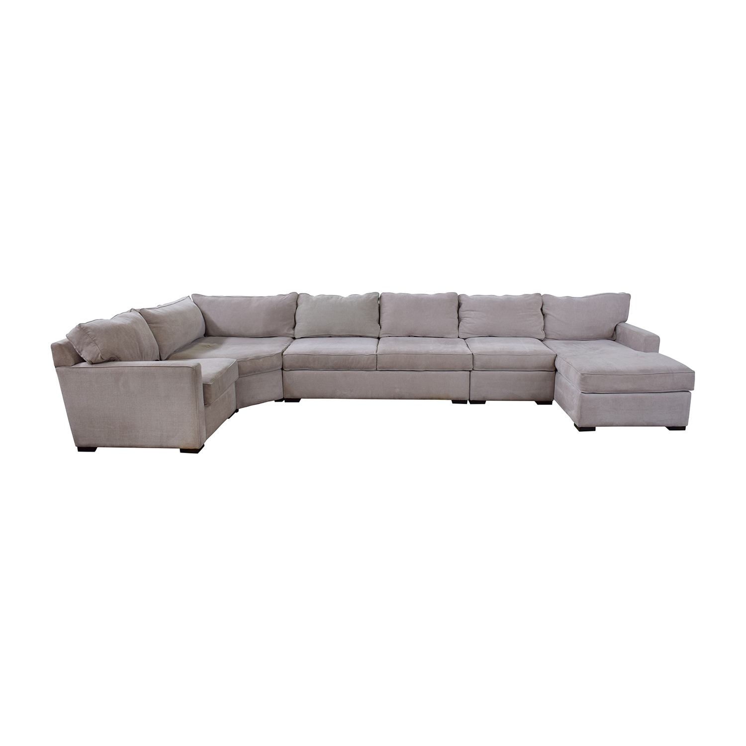 Macy's Macy's Radley Fabric Chaise Sectional tan