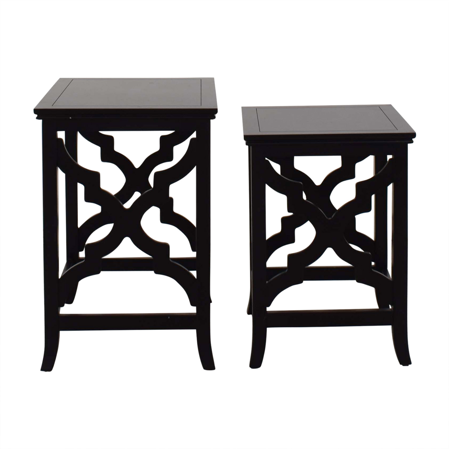 Raymour & Flanigan Raymour & Flanigan Wooden Nesting Side Tables for sale
