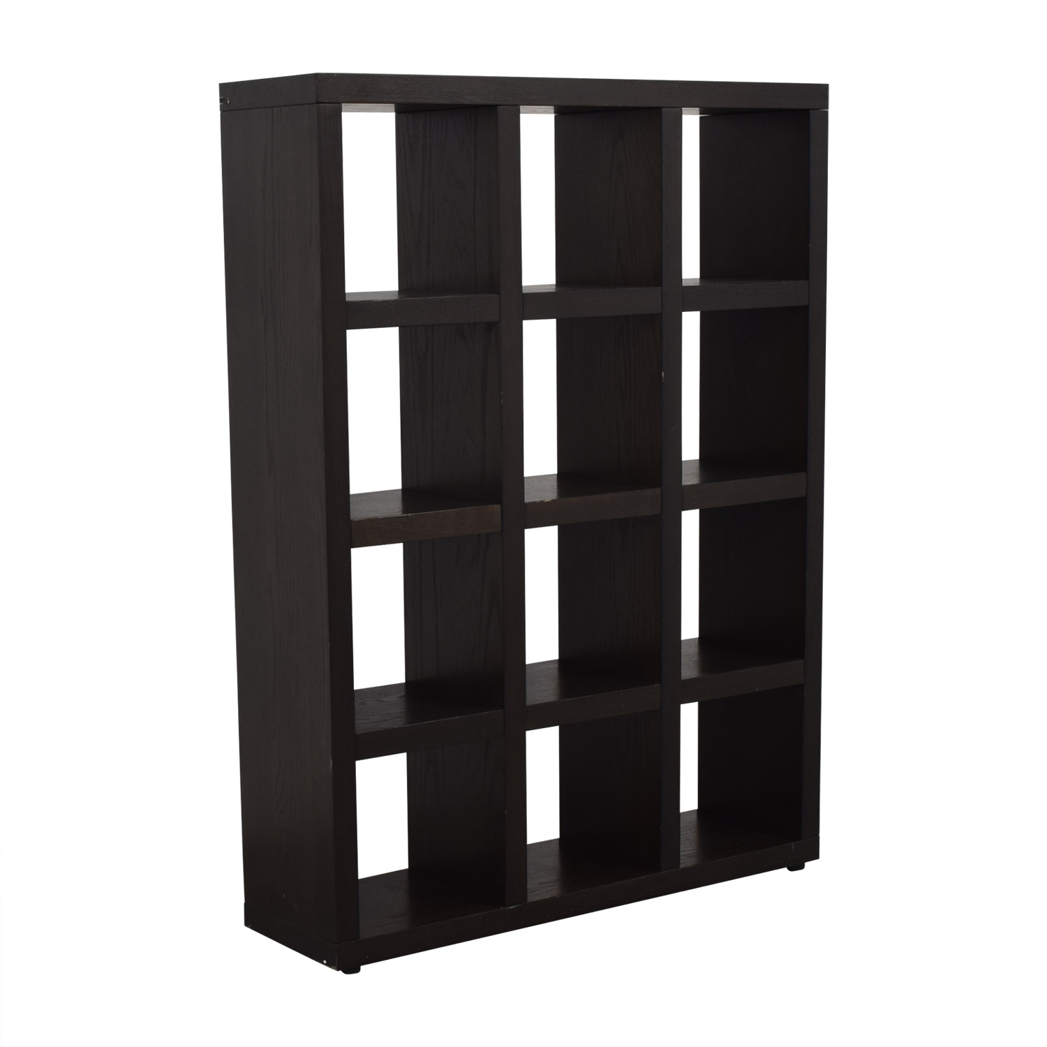West Elm Tall Black Cube Bookshelf / Bookcases & Shelving