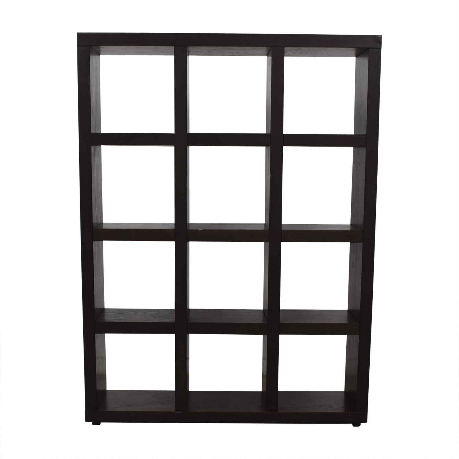 West Elm Tall Black Cube Bookshelf / Storage