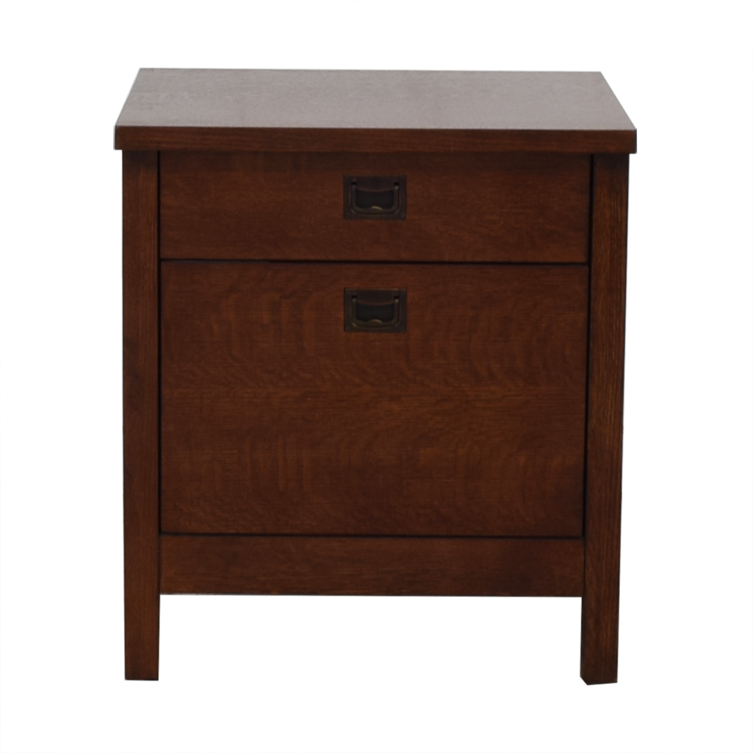 Crate & Barrel Mission Oak File Cabinet sale