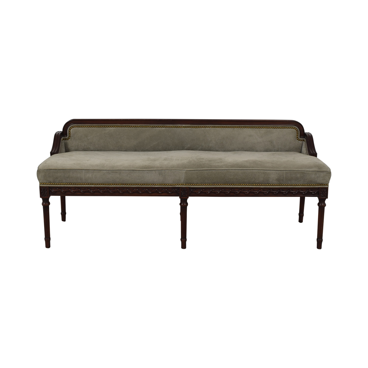 80% OFF   Hancock And Moore Hancock And Moore Leather Drake Bench / Chairs
