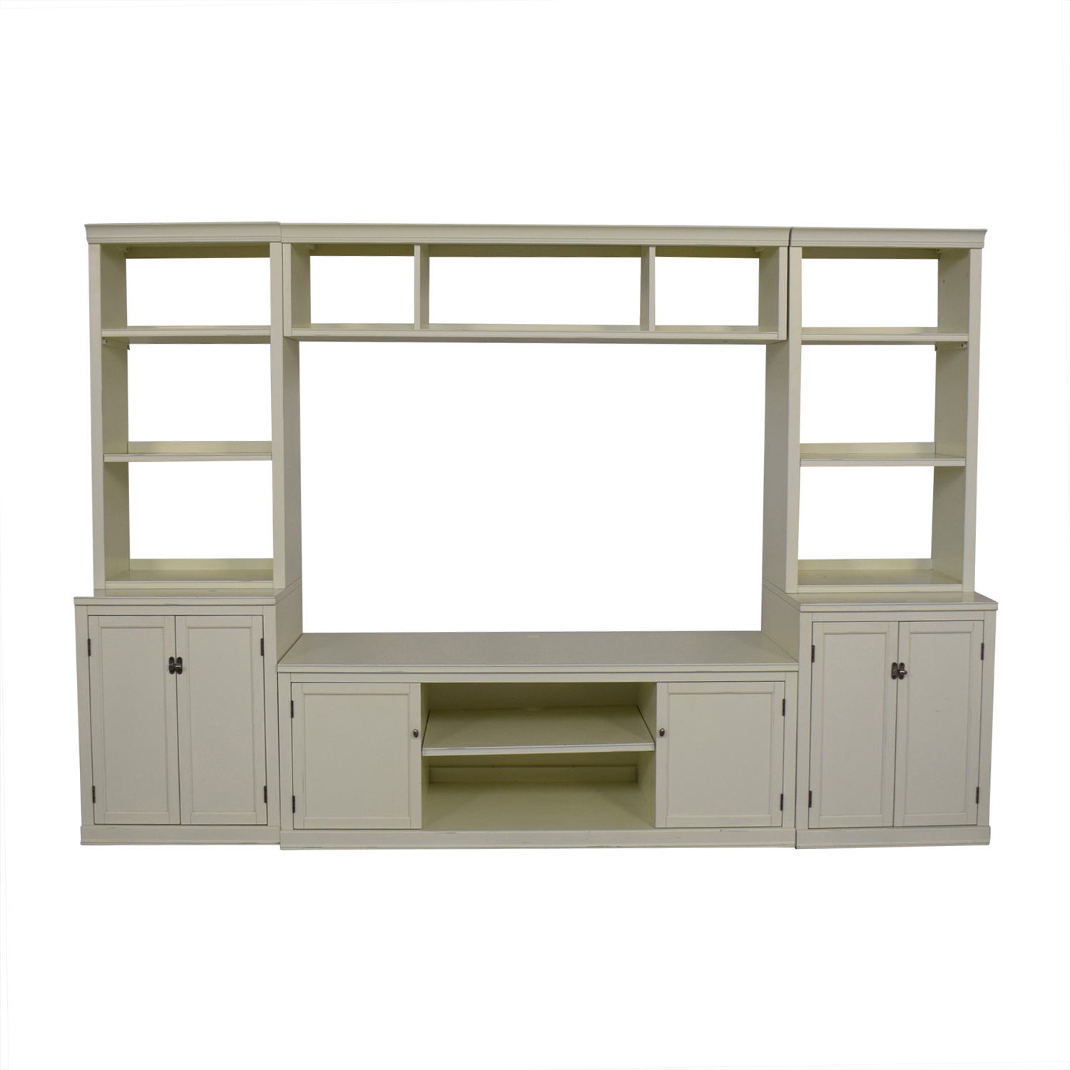 Pottery Barn Pottery Barn Logan Entertainment Center Antique White on sale