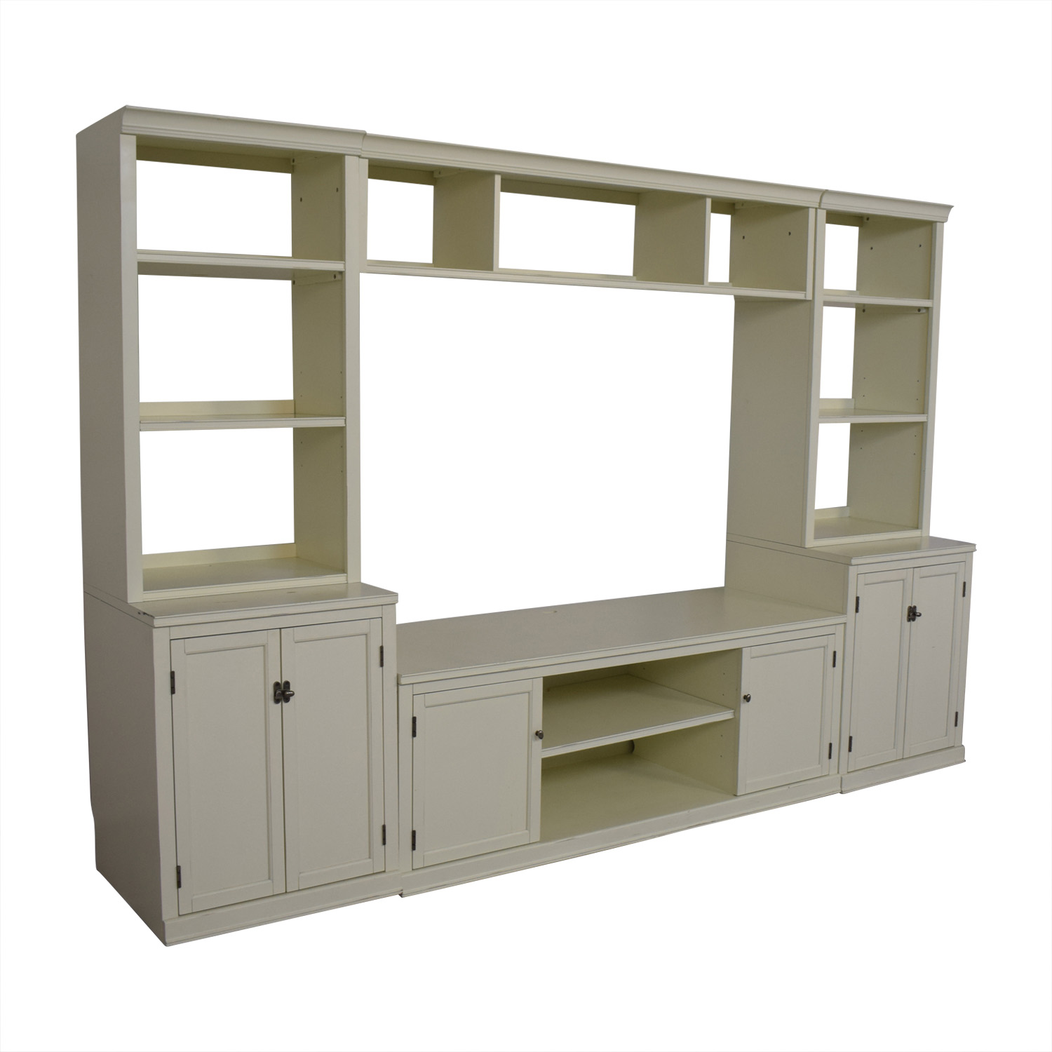 buy Pottery Barn Logan Entertainment Center Antique White Pottery Barn Storage